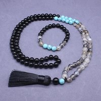 Earrings & Necklace Fashion 2021 Est High Quality Natural Semi-precious Stones Long Necklaces 108Mala Beads Sweater Chians Bracelet Jewelry