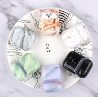 Luxury Silicone Earphone Case For Airpods 2 1 Marble Pattern Cases Coque For Apple Airpods Shockproof For Air pods Cover