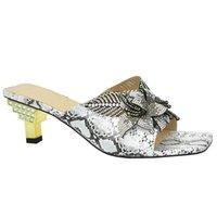 Dress Shoes Italian Women's Elegant High Heels Wedding Decorated With Rhinestone Open Toe Ladies Bridal Nigeria Party