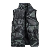Men's Vests Camouflage Vest Mens Jacket Sleeveless Winter Fashion Casual Coats Male Cotton-Padded Men Thicken Waistcoat 6XL
