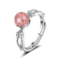 Anillos de racimo Simple Moonstone Real 925 plata esterlina para las mujeres moda fina cristal joyería abierta anillo de alta calidad fiesta
