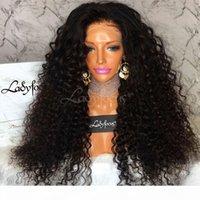 الماليزي مجعد كامل الرباط الشعر البشري الباروكات مع شعر الطفل 100٪ البرازيلي العذراء الشعر غريب مجعد الدانتيل الجبهة الباروكات للنساء السود