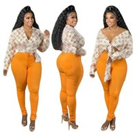 Design Plus Size Blouses Women Blouse V-neck Long Sleeve Chains Letter Print Loose Casual Shirts Womens Tops