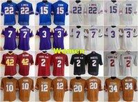 Jersey da calcio NCAA Donne Arizona State Jersey 42 Pat Tillman Florida Gators 15 Tim Tebow 22 Emmitt Smith Texas am Aggies 2