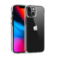 1.5MM Acrylic Clear Case Cover Anti-Scratch Shockproof Hard Transparent Back Cases with Soft Edge for iPhone 13 pro max 12 mini 11 XR X XS 7 8 Plus