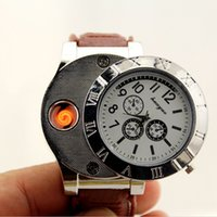 Watch Lighter 2 In 1 With Retail Box Rechargeable Electronic Lighter USB Charge Flameless Cigar Wrist Watches Lighter Business Christmas Gif