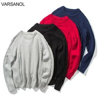 Varsanol Men Pullovers Sweater Cotton Winter Clothes Knitted Sweater for Men Oversized Vintage Clothes Men Disigner Sweater 210601