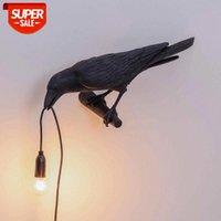 Italienische Seletti Vogel Wandleuchte LED Tiermöbel Wandleuchte Vogel Wand Sconce Wohnzimmer Schlafzimmer Nacht Wohnkultur Leuchte # UL2C