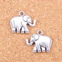30 stücke Antike Silber Überzogene Bronze Überzogene Zweiseitige Elefant Charms Anhänger DIY Halskette Armband Armreif Erkenntnisse 21 * 18 * 5mm