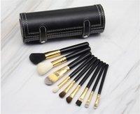 Hot M 9pcs Make-up Pinsel Set Kit Reise Schönheit Professionelle Holzgriff Foundation Lips Kosmetik Makeup Pinsel mit Halter Tasse Fall