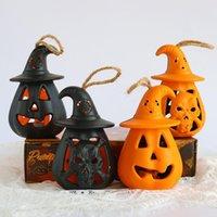Cadılar bayramı Dekorasyon LED Kabak Fener DIY Asılı Ghost Lamba Korkunç Mum Işık Cadılar Bayramı Korku Sahne DWB10878
