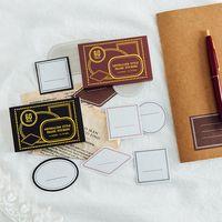 Cartes de vœux 60pcs Stamping Boxed Sticker Vintage Autocollant Rétro Diary Note Scrapbooking Fournitures Journal