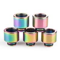 510/810 Drip Tips Rainbow Color Нержавеющая сталь SS TFV8 TFV12 Принц Бак для 810/510 Нить Ширистый мундштук