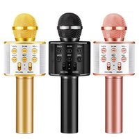 WS858 Bluetooth Karaoke KTV Player con micrófono de micrófono inalámbrico de micrófono Regalo recargable para niños juguetes para niños Máquina portátil Máquina portátil Handheld Home Party Cant