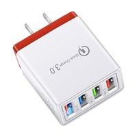빠른 빠른 충전기 4 USB 포트 허브 벽 충전 5v3a 전원 어댑터 EU / US 플러그 미니 휴대용 전화 충전기 새로운 무선 충전