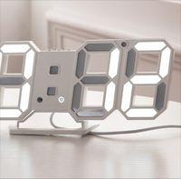 Modern Tasarım 3D LED Duvar Saati Modern Dijital Çalar Saatler Ekran Ev Oturma Odası Ofis Masa Masası Gece Duvar Saati Ekran 46 S2