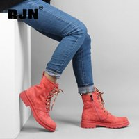 RJN Candy Color Chevle Bottines Bottines En Endre De Suisse Décorations Décoration Confortable Toile Ronde Chaussures Chaussures à talons Share Shaks Femmes Bottes d'hiver R09 F5CB #