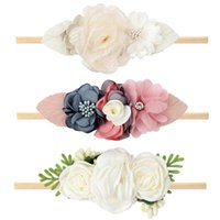 Acessórios de cabelo OAoleer Adorável Bebê Bebê Flor Headbands Doce Artificial Floral Mesh Rose Diamante Hairbands for Girls Kids