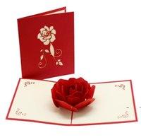 New3D Rose Tarjetas de felicitación de San Valentín Día de San Valentín Tarjeta Creativa Hecho a mano Días de San Valentín regalos para mujeres EWA6247