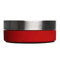 المطبخ الموقت 8 سنتيمتر مصغرة أداة العد التنازلي ميكانيكية الفولاذ المقاوم للصدأ جولة الشكل الطبخ الوقت ساعة إنذار المغناطيسي الموقت ريمين 6529