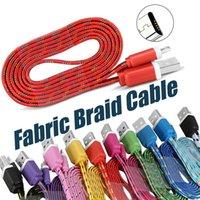 Stof Kleurrijke USB-oplaadkabel USB-kabeloplader Synchronisatiegegevens MIRCO USB 1M / 3FT Sterke kabel voor mobiele telefoons zonder pakket