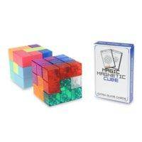 Quebra-cabeça Blocos Cubo Mágico Magnético Soma ímã 3x3x3 Brinquedos Educativos Crianças Para Crianças Blocos Mago Cubo