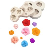 Baking Moulds 3D Tulip Rose Shapes Silicone Mold Fondant Cake Chocolate Candy Decorating Tools