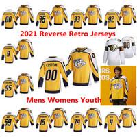 Nashville Raubtiere 2021 Reverse Retro Hockey-Trikots Matt Duchee Jersey Juuse Saros Ryan Johansen Craig Smith Pk Subban Custom genittelt
