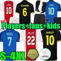 팬 플레이어 버전 2021 2022 Ajaxes 세 번째 흑인 Antony 블라인드 Tadic Neres Cruyff 22 22 폴로 남자 + 키트 키트 축구 축구 셔츠 유니폼 클라센 해일 유니폼