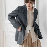 Women's Suits & Blazers Korean blazers for elegant women fall new loose sleeve long jackets ladies'buttons from office to SEU4