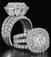 2021 فيكتوريا Wieck المجوهرات الفاخرة خواتم زوجين 925 فضة الكمثرى قطع الياقوت الزمرد متعدد الأحجار الكريمة الزفاف خاتم الزفاف مجموعة