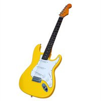 Rosewood Fingerboard Yellow body Electric Guitar with White pickguard,Chrome hardware,SSS pickups,can be customized