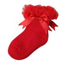 Sevimli Bebek Kız Prenses Dantel Çiçek Pamuk Çorap Aby Anti Kayma Çocuklar Çocuk Ince Kore Mutlu Çorap