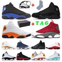 رجل جديد لكرة السلة الأحذية air retro jordan 13  الأحمر فلينت فرط الملكي أسود القط ولدت ملعب رجال الرياضية حذاء رياضي المدربين حجم 7-13