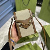 클래식 1955 horsebit 여성 안장 가방 패션 작은 어깨 가방 Luxurys 디자이너 미니 핸드백 지갑 크로스 바디 가방 송아지 가죽 도매