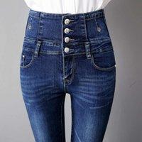 Moda Bacaklar Kot Toprak Süper Yüksek Sıkı Bel Aşınma Sonbahar Ve Kış Kadın Gösterisi Lüks Olmadan Ince Boyutu Ince Seksi Pantolon