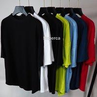 21SS High Qaulity Hommes Designers Tees Imprimer Lettre Vert Blanc T-shirts Fashion Condus Couples Couché à manches courtes Tee Confortable Hommes Femmes Vintage Bat Sleeve T-shirt