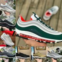 Nike Air Max 97 shoes New Airmax 97 2021 New Triple White 97 og x Herren Outdoor Bredddd Unbeatsame Schwarz Sliver Bullet Metalic Gold Olive Frauen