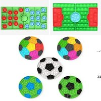 Football Ground Jigsaw Puzzle Fidget Toy for Children Simple Finger Decompression Toy Kids Anti stress Bubble for Kids Gift HHF10463