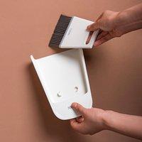 Newmini مكنسة داسبان الرطب والجاف مزدوجة تستخدم أدوات تنظيف سطح المكتب المنزلية لينة الفراء كشط فرشاة مجموعة EWF7574