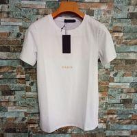 Yaz Tee Gömlek Mektup Tasarımcısı Erkekler Kadın T Gömlek Kristal Moda Kısa Kollu Yüksek Street Homme Giyim 2 Stilleri İsteğe Bağlı