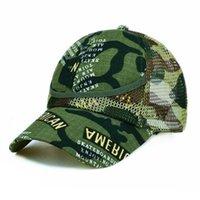 Kamuflaj Ebeveyn-Çocuk Şapka çocuk Yaz Örgü Şapka Erkek ve Kız Ayarlanabilir Açık Eğlence Güneş Şapka Beyzbol Şapkası Askeri Kafa Giyim G67zuf8