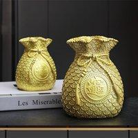 Storage Bottles & Jars Lucky Bag Piggy Bank Creatives Money Saving Resin Coin Ornaments For Home Office Decor REME889