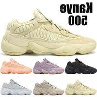 Üst Kanye 500 Koşu Ayakkabıları Erkekler Enflame Allık Kemik Beyaz Tuz Lavanta Taş Yardımcı Programı Kara Ay Sarı Erkek Bayan Spor Sneakers Eğitmenler {36-45}