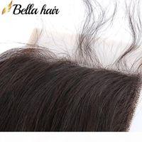 Nouvueux Venu 1RAIE Spitze Verschluss Cheveux Tärkeln Königin Cheveux Products Malaisien Brazilian Peruanian Vierges Cheveux Humaines 4x4 Bella Haar