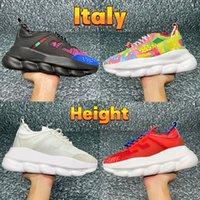 Новейшие мужчины женщины повседневные туфли Италия Трехместный черный белый 2.0 золотые флуо многоцветные замшевые цветочные фиолетовые отражающие высоты реакции дизайнерские кроссовки