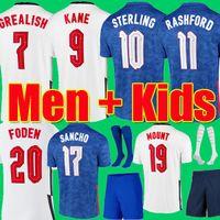 Top Thailand quality FODEN englAnd football soccer jerseys 2021 KANE STERLING RASHFORD MOUNT LINGARD SANCHO 21 22 national shirt men + kids kit sets socks uniform