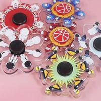 3D Phantom Decompression Fidget Brinquedos Festa Favor Fingertip Brinquedo Stress Educacional Sensor de Presente Dedos Spinner com Pacote de Caixa