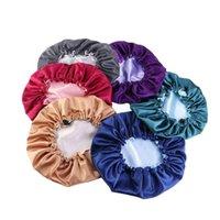 Beanie Skull Caps Women Big Size Beauty Print Satin Silk Bonnet Extra Large Lined Sleep Night Cap Head Cover Hat Wholesale