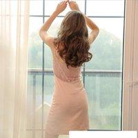 Nightgowns Sexy Backless Seide Hot Sex V-Ausschnitt Heiße Frauen Nachtwäsche Spitze Dessous Sleepweat Intime Nacht Nighty Kleid Seide Plus Größe S-XXXXXL